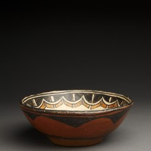 Small Gem San Ildefonso Chili Bowl with Black-on-Red Exterior