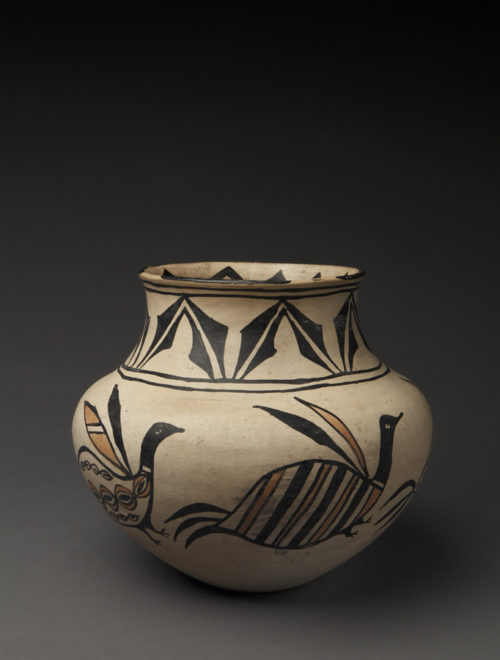 Gem San Ildefonso Polychrome Olla with Birds