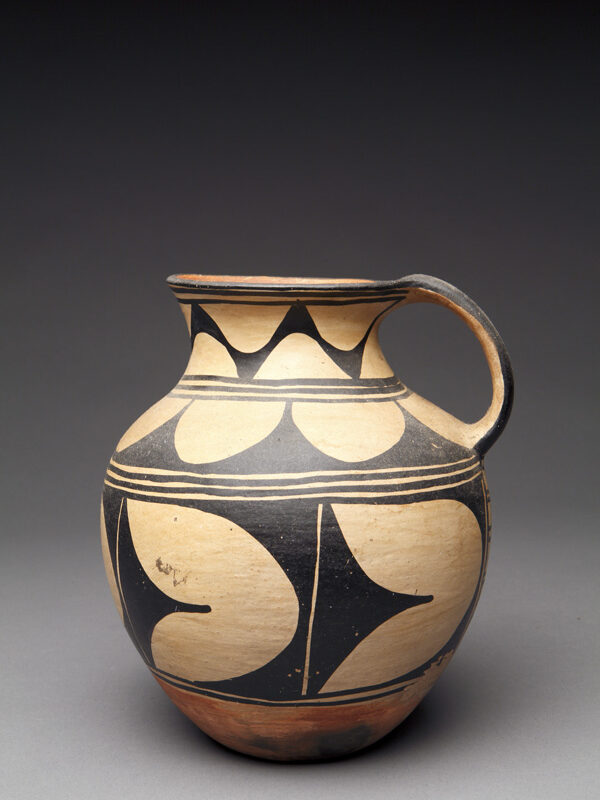 """""""The Leaning Pitcher"""": Gorgeous Kewa Tall Pitcher, Attributed to Felipita Aguilar Garcia"""