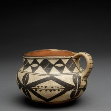 """The Leaning Pitcher"": Kewa Cup with Diamonds, Triangles and Dots"