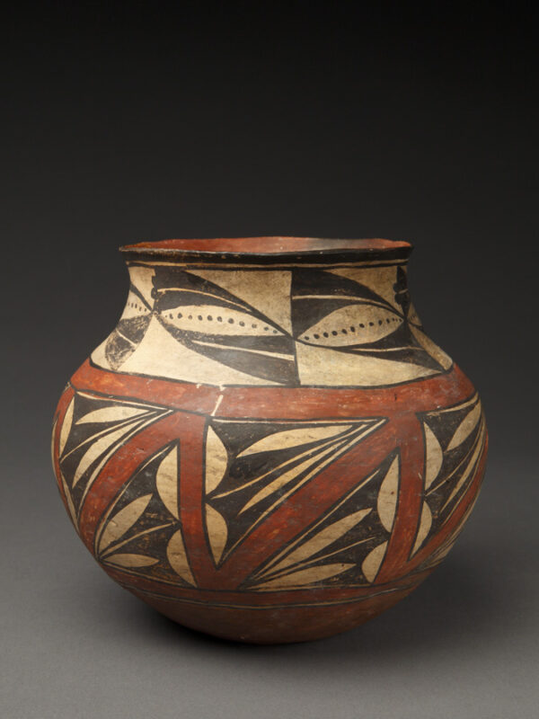 Small Exceptional Laguna (or Acoma) Child's Olla w/Stylized Triangles and Dots