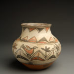 San Ildefonso Polychrome Olla with Cascading Birds