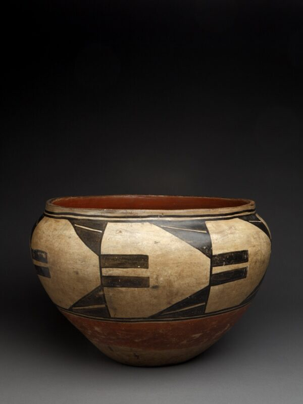 Wonderful Cochiti Dough Bowl With Inner Small Bird