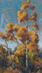Fall Aspens, pastel on artists board by Chessney Sevier